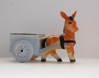 Vintage Donkey Planter