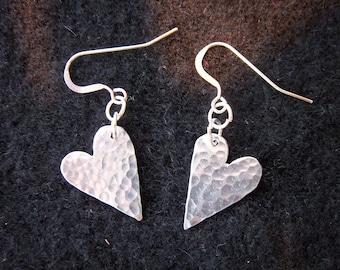 Small Heart Ear rings.