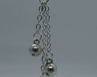 Silver Earrings in Chain optics
