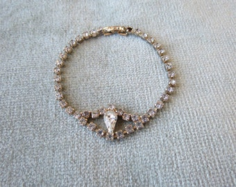 Art Deco / Rhinestone Vintage Bracelet