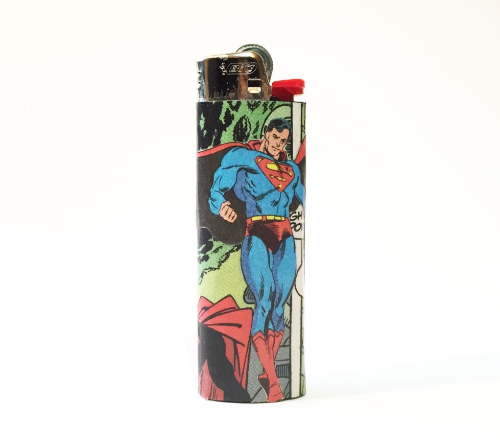 Superman Justice League Comic Book Custom Bic Lighter
