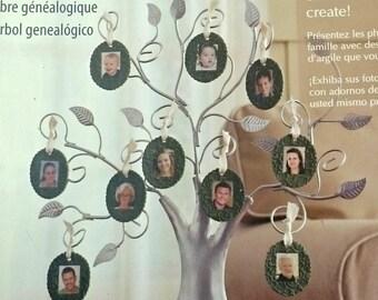 DIY Family tree kit, Sculpey Keepsake Clay Family Tree Kit, diy, scrapbook, family photo tree, craft kit, family craft kit
