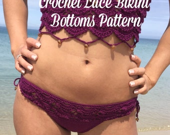 Crochet Lace Bikini Bottoms Pattern - Written Pattern PDF File
