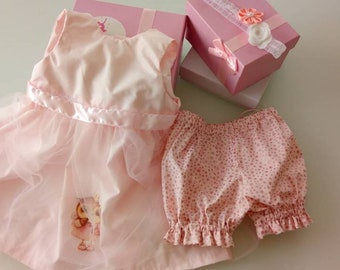 Dress, headband baby bloomer set