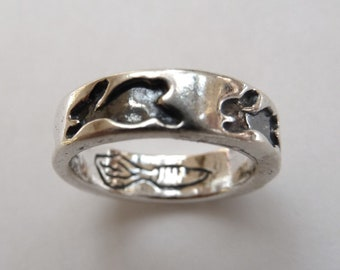 Sterling Silver Bunny Rabbit Band Ring