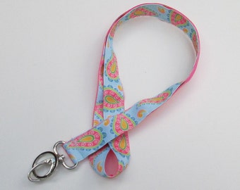 Paisley Lanyard Keychains for Women, Cool Lanyards for Keys, Id Badge Holder Necklace Lanyards, Cute Lanyards for Badges, Cute Key Lanyard