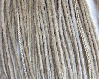 Blonde Systhetic Dreads, Handmade