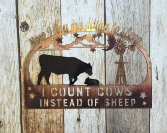 Count cows nursery sign