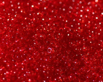 10 Grams of 15/0 Sized Transparent Ruby TOHO Seed Beads (TH218)