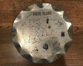 Rhode Island silver landmark platter