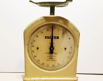Vintage 1940s Salter No.34 Food Scale, Made in England, 20 Pound Home Kitchen Scale
