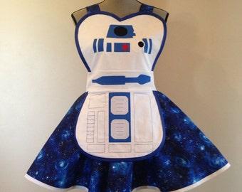 Droid apron - Cosplay apron -  Retro apron
