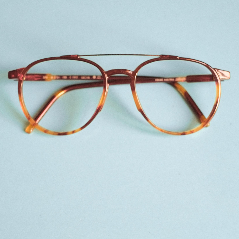 80er Jahre Brille Brille Rahmen / braun Schildkröte Schale