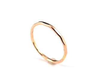 Skinny gold filled ring -  stacking gold ring -  14k gold filled ring