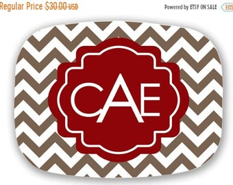 Memorial Day Sale personalized melamine platter - Christmas monogram