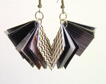Paper Earrings Re Purposed Fashion Magazine Pages