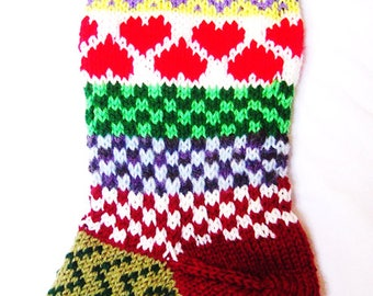 Hand Knit Personalized Christmas Stocking, fully lined