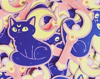 Sailor Moon/Moon Kitty Sticker Pack