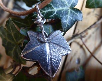 Silver Ivy Leaf Pendant. Botanical Jewellery. Unique Piece