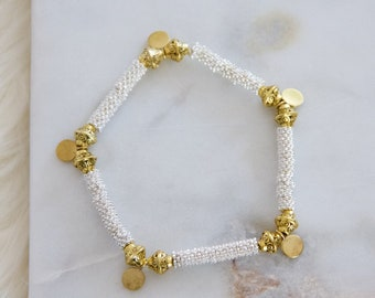 Gold and Silver Beaded Beacrlet