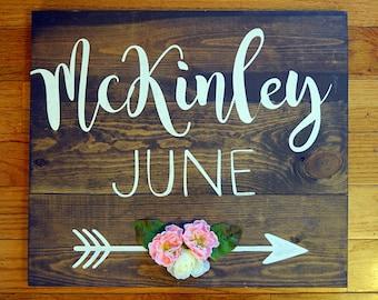 Reclaimed Wood- Recycled Wood- Farmhouse decor- Nursery Decor- Nursery wood wall art- Girl Nursery- Boy Nursery- Shabby Chic- Barn wood-