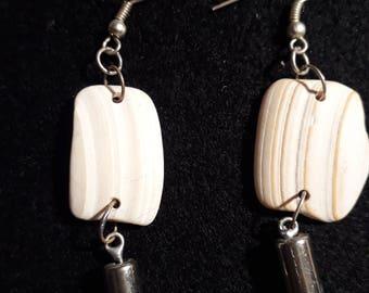Earrings made of sea shells