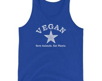 Vegan Star Save Animals Eat Plants Unisex Tank Top