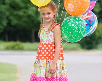 Baby Hot Air Balloon Dress - Baby Dress - Baby Party Dress -  Toddler Summer Dress - Toddler Birthday Dress -  Baby Sundress - Balloon Dress