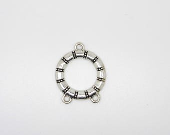 Round connector, silver, tube shape