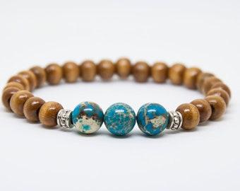 Turquoise Bracelet for Men, Gift for traveller, Mens Beaded Bracelet ,Mens Turquoise Bracelet , Mens Bracelet , Bohemian Bracelet Men