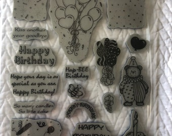 Set of Birthday Stamps
