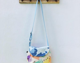 Hand Painted Denim Cross Body Bag // The Groupie by Stella di Mari