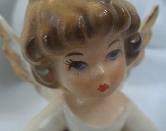 Vintage Enesco July Birthday Angel Figurine