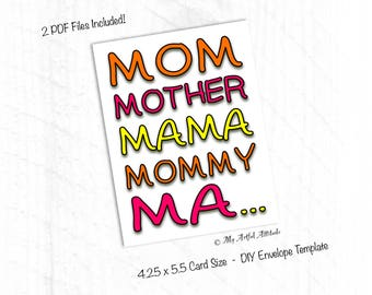 PRINTABLE Mother's Day Card, Funny Birthday Card For Mom, Last Minute Instant Digital Download