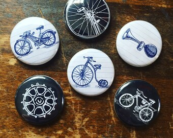 Bikes and Things Magnets set of 6