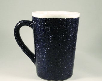Black Glitter Coffee Mug - 14 Oz.