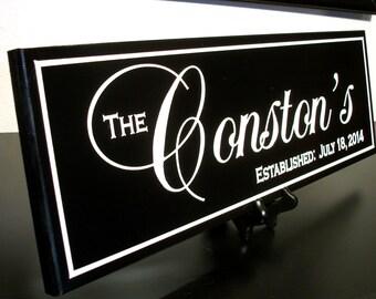 Family Established Sign Custom Carved Last Name Sign Custom Wedding Sign Anniversary Gift