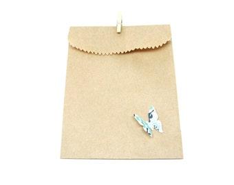 """Kraft Bags - Gift Bags- Gift Packaging, 3.5"""" x 5.25"""" Set of 50"""