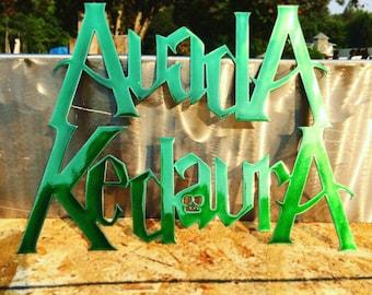 Plasma Cut Harry Potter Avada Kedavra Wall Art