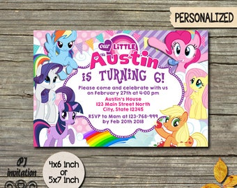 My Little Pony Invitation,My Little Pony Invite,My Little Pony Party,Little Pony Birthday,Pony Invitation,Pony Birthday,Pony Invite