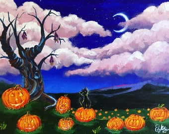 All Hallow's Eve -- Original Acrylic Painting