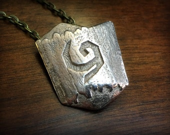 Legend of Zelda Ocarina of Time Deku Shield Stainless Steel 3D Printed Pendant
