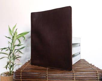 The MOSAIC design portfolio // rich full-grain, veg-tan leather // sienna brown