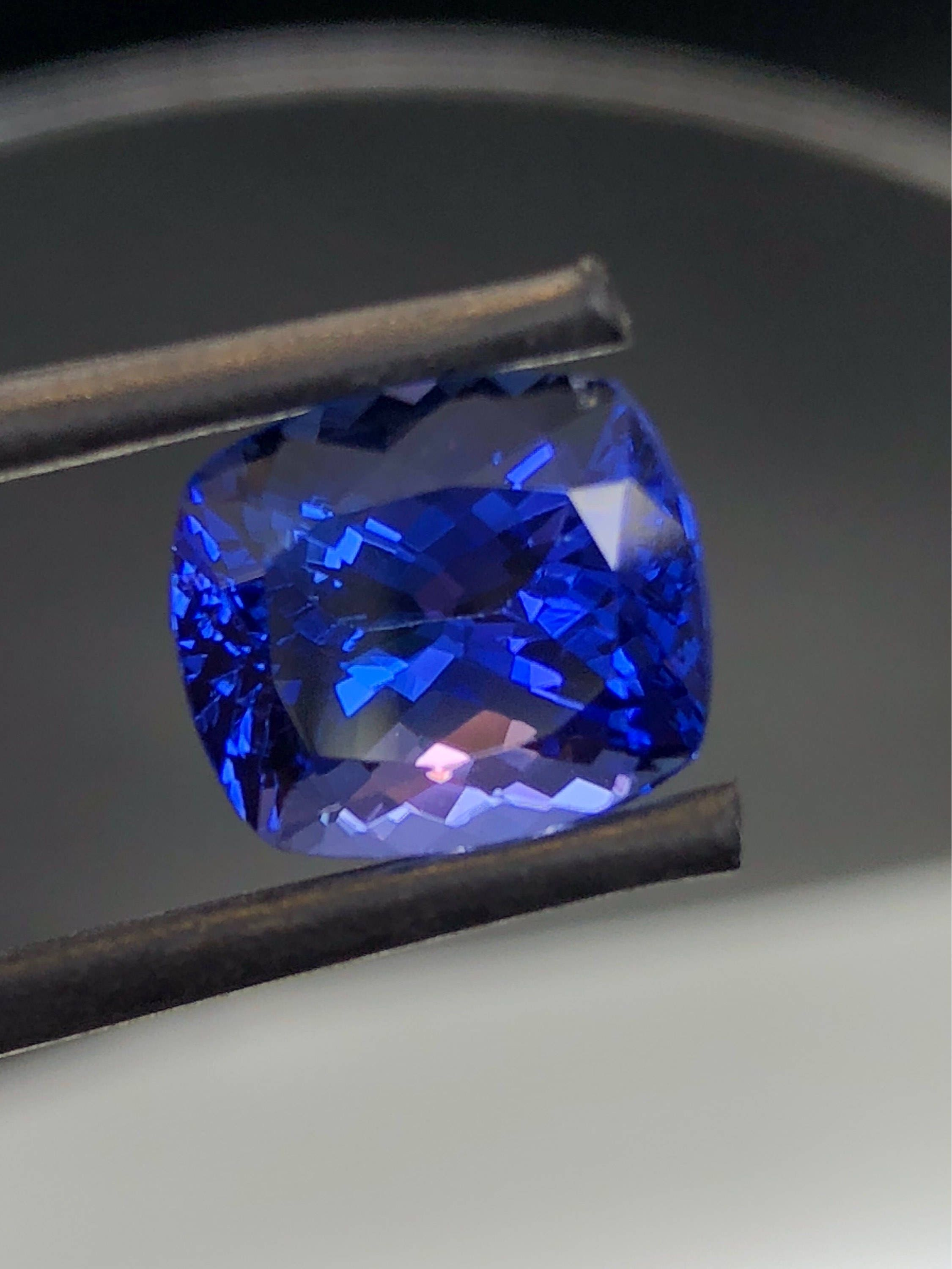 grade listing aaa gem photo sapphire rare trillion blue large flawless gallery fullxfull il tanzanite