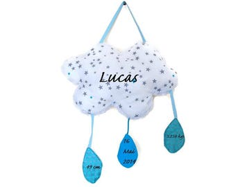 Gift - cloud hanging pillow - decorative room baby-unique gift idea