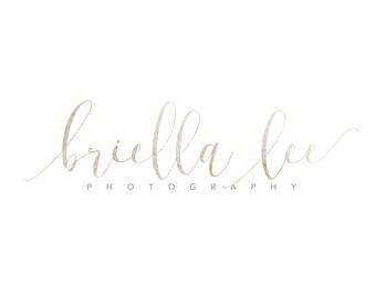 Photography logo, watercolor logo, wedding planner logo, event planner, logo design, calligraphy logo, modern logo, 3759