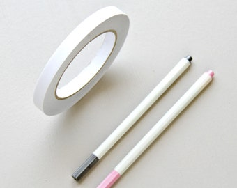 Fast Shipping> Photo Guest Book Kit. Double Sided Tape + 2 Metallic Markers For Dark or Black Paper Guest Books. Easy Tear & Peel Roll Tape