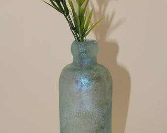 Antique Bottle Ryan Bottling Company Trade Mark Chicago  Collectible Bottle Vase Heavy Soda Bottle Farmhouse Decor