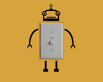 Kids Room Robot Lightswitch Outlet Decal