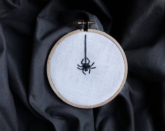 Spider Halloween Decor Embroidery Art